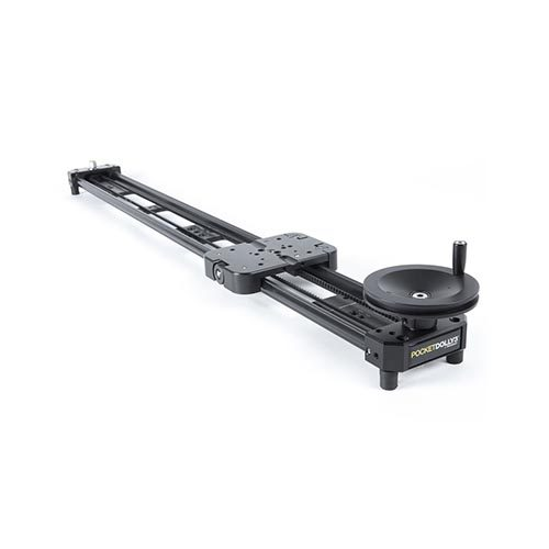 "3' Cine Slider with 2 - 20"" C Stands and Manfrotto 501HD Video Head"