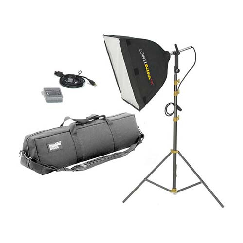 Lowel 1000W DP and Medium Video Softbox Kit
